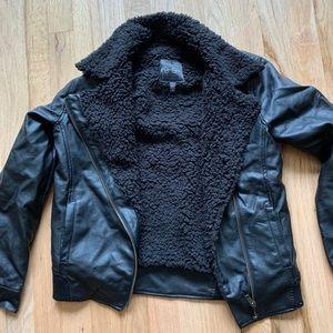 Jessica Simpson Fluffy Leather Jacket